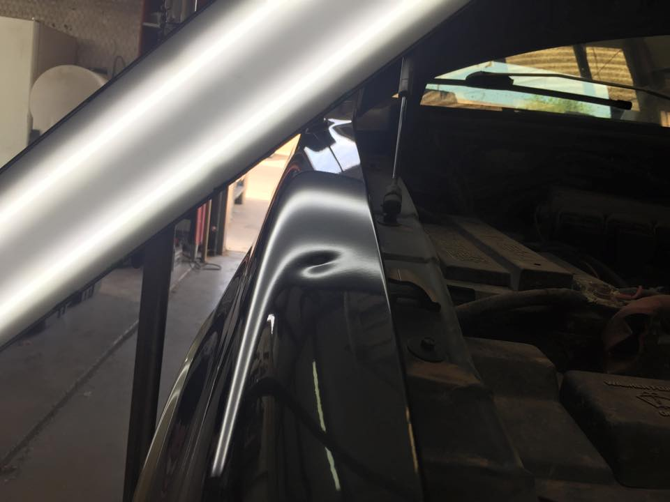 Car Bonnet Ding Before Denting